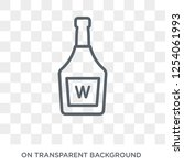 whisky icon. trendy flat vector ... | Shutterstock .eps vector #1254061993