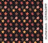 vector seamless star pattern   Shutterstock .eps vector #1254062899