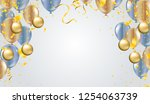 illustration balloon of happy... | Shutterstock .eps vector #1254063739