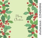 christmas and new year card... | Shutterstock .eps vector #1254064846