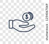 earnings icon. trendy linear... | Shutterstock .eps vector #1254067069