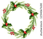 new year and christmas... | Shutterstock . vector #1254067630