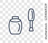 nail polish icon. trendy linear ...   Shutterstock .eps vector #1254069229