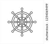 ship steering wheel icon  boat  ...   Shutterstock .eps vector #1254069499