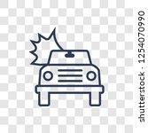burning car icon. trendy linear ... | Shutterstock .eps vector #1254070990