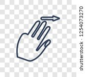flick right gesture icon.... | Shutterstock .eps vector #1254073270