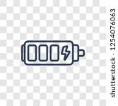recharge icon. trendy linear... | Shutterstock .eps vector #1254076063