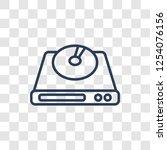 cd room icon. trendy linear cd... | Shutterstock .eps vector #1254076156