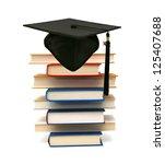a graduating degree in school...   Shutterstock . vector #125407688