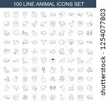 animal icons. trendy 100 animal ...   Shutterstock .eps vector #1254077803