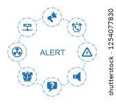 8 alert icons. trendy alert... | Shutterstock .eps vector #1254077830
