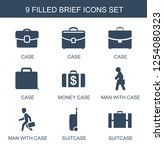 9 brief icons. trendy brief... | Shutterstock .eps vector #1254080323