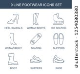 footwear icons. trendy 9... | Shutterstock .eps vector #1254080380