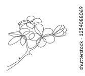 frangipani plumeria flower. one ... | Shutterstock .eps vector #1254088069