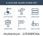 6 guide icons. trendy guide... | Shutterstock .eps vector #1254089266
