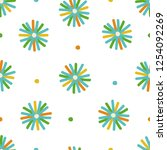 colorful seamless vector star...   Shutterstock .eps vector #1254092269