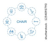 8 chair icons. trendy chair...   Shutterstock .eps vector #1254093793