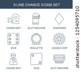 9 chance icons. trendy chance... | Shutterstock .eps vector #1254095710