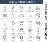season icons. trendy 25 season...   Shutterstock .eps vector #1254095866