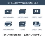 paying icons. trendy 6 paying... | Shutterstock .eps vector #1254095950