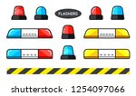 set of special flashers of... | Shutterstock .eps vector #1254097066