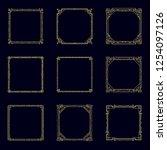 art deco horizontal gold frames ... | Shutterstock .eps vector #1254097126