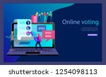 voting and election concept.... | Shutterstock .eps vector #1254098113