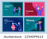 set of landing page templates... | Shutterstock .eps vector #1254099613