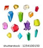 crystal set  polihedrons linear ...   Shutterstock .eps vector #1254100150