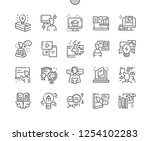 learning well crafted pixel... | Shutterstock .eps vector #1254102283