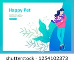 set of landing page templates... | Shutterstock .eps vector #1254102373
