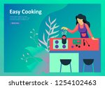 landing page templates with... | Shutterstock .eps vector #1254102463