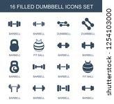dumbbell icons. trendy 16... | Shutterstock .eps vector #1254103000