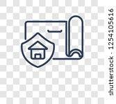 insurance icon. trendy... | Shutterstock .eps vector #1254105616