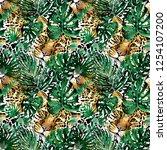 leopard pattern design ... | Shutterstock . vector #1254107200