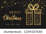 text merry christmas and happy... | Shutterstock .eps vector #1254107650
