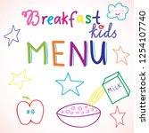 good morning hand write sketch... | Shutterstock .eps vector #1254107740