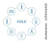 hole icons. trendy 8 hole icons.... | Shutterstock .eps vector #1254116323