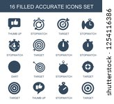 16 accurate icons. trendy... | Shutterstock .eps vector #1254116386