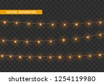 christmas decorations  isolated ... | Shutterstock .eps vector #1254119980