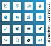 multimedia icons colored set... | Shutterstock .eps vector #1254140803