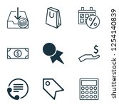 e commerce icons set with paper ... | Shutterstock .eps vector #1254140839