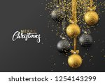 christmas greeting card  design ... | Shutterstock .eps vector #1254143299