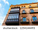 facade of a historic building... | Shutterstock . vector #1254144493