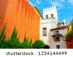 exterior wall of the alcazar in ... | Shutterstock . vector #1254144499