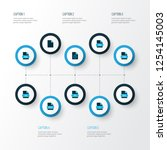 document icons colored set with ... | Shutterstock .eps vector #1254145003
