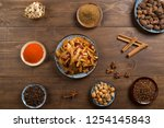 delicious spicy belly and spices | Shutterstock . vector #1254145843