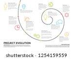 project evolution timeline... | Shutterstock .eps vector #1254159559