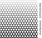 honeycomb pattern in halftone | Shutterstock .eps vector #1254161446