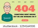 404 page template with geek... | Shutterstock .eps vector #1254164530